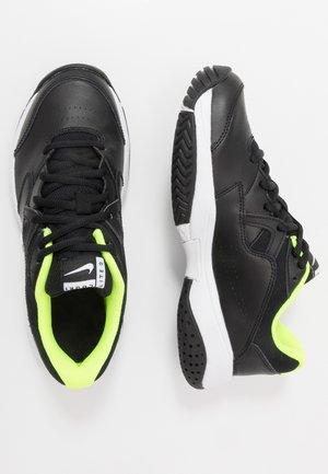 COURT Jr.  LITE 2 UNISEX - Multicourt tennis shoes - black/white/volt