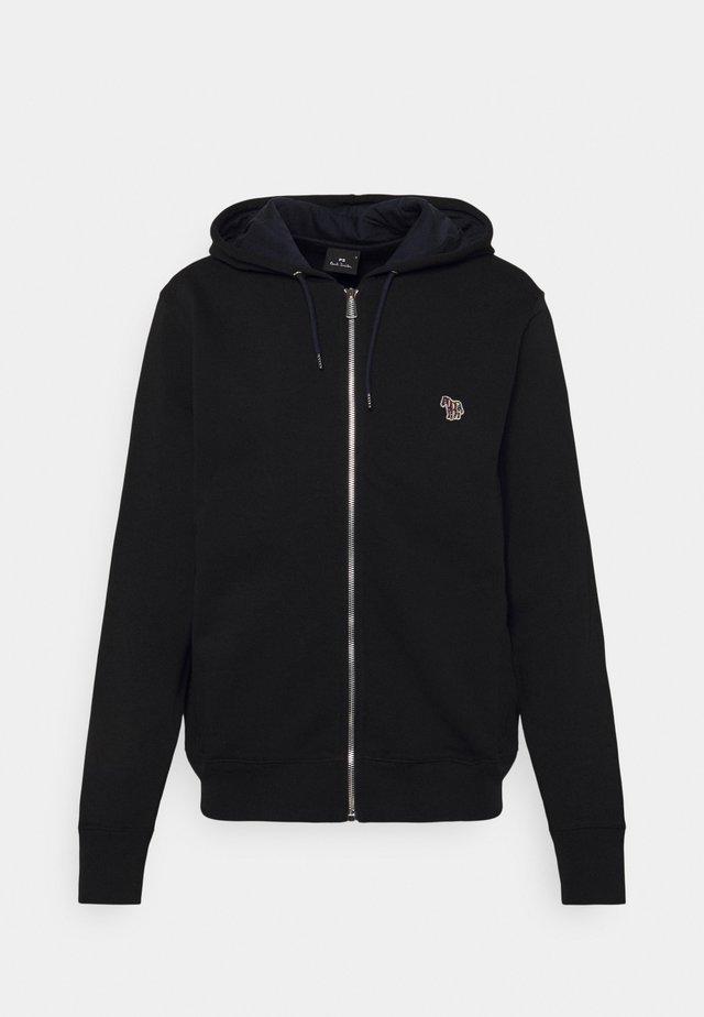 ZIP HOODY UNISEX - Felpa con zip - black