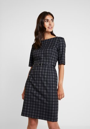 BELT DRESS - Shift dress - black