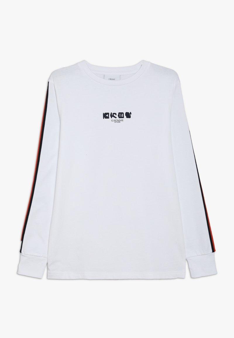 Grunt - NOUMAN TEE - Top sdlouhým rukávem - white