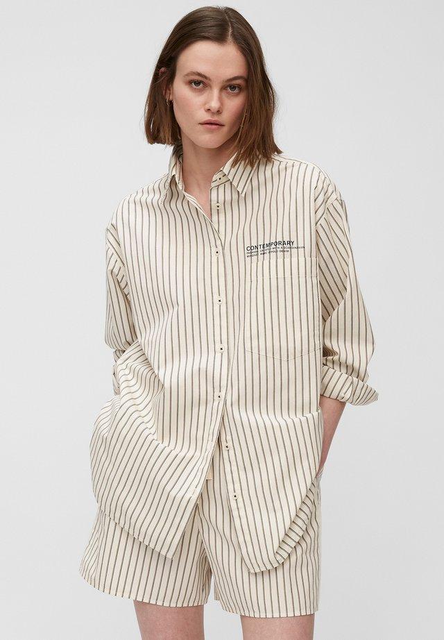 Button-down blouse - multi/scandinavian white