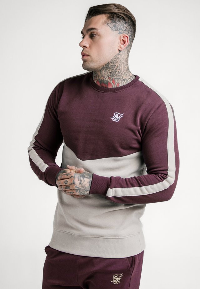 CUT AND SEW CREW - Felpa - wine/cream