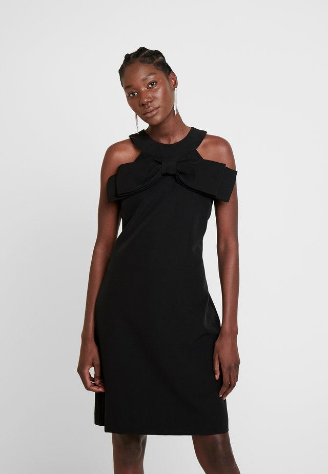 DRESS WITH BOW - Cocktailklänning - black