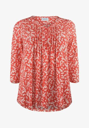 DITSY PINKTUCK DETAIL  - Long sleeved top - red