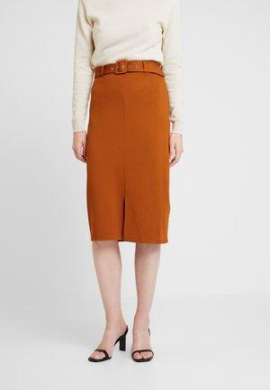 Pencil skirt - caramel cafe