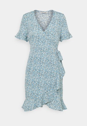 ONLOLIVIA WRAP DRESS - Kjole - dusk blue