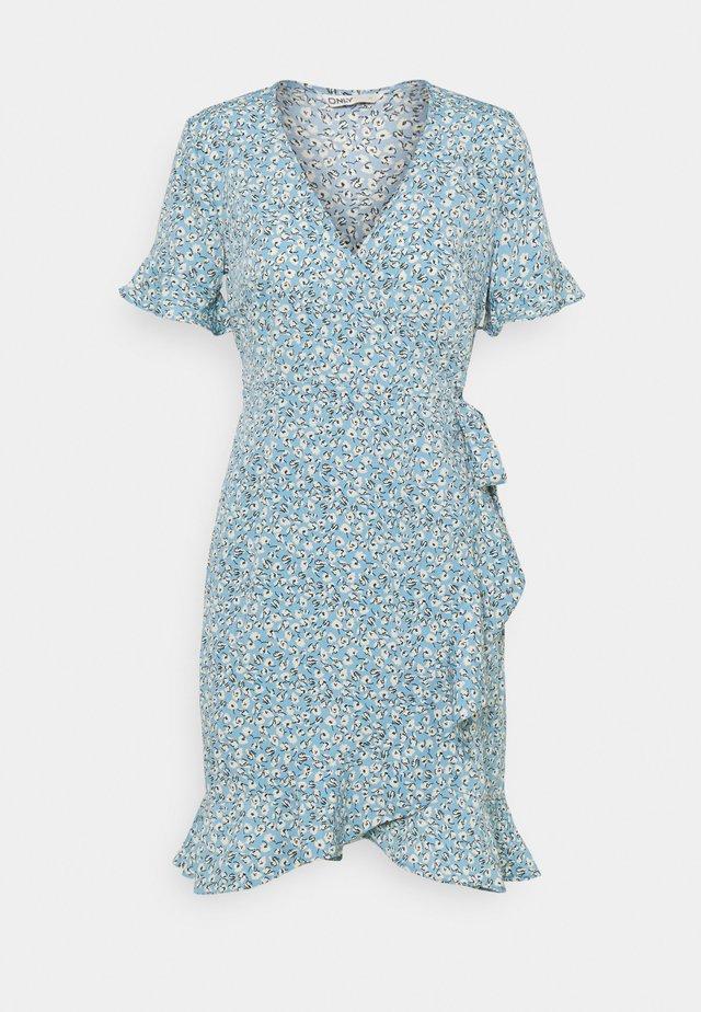 ONLOLIVIA WRAP DRESS - Robe d'été - dusk blue