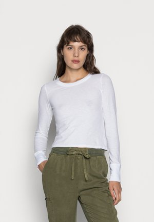SHRUNKEN BABY TEE - Long sleeved top - true white