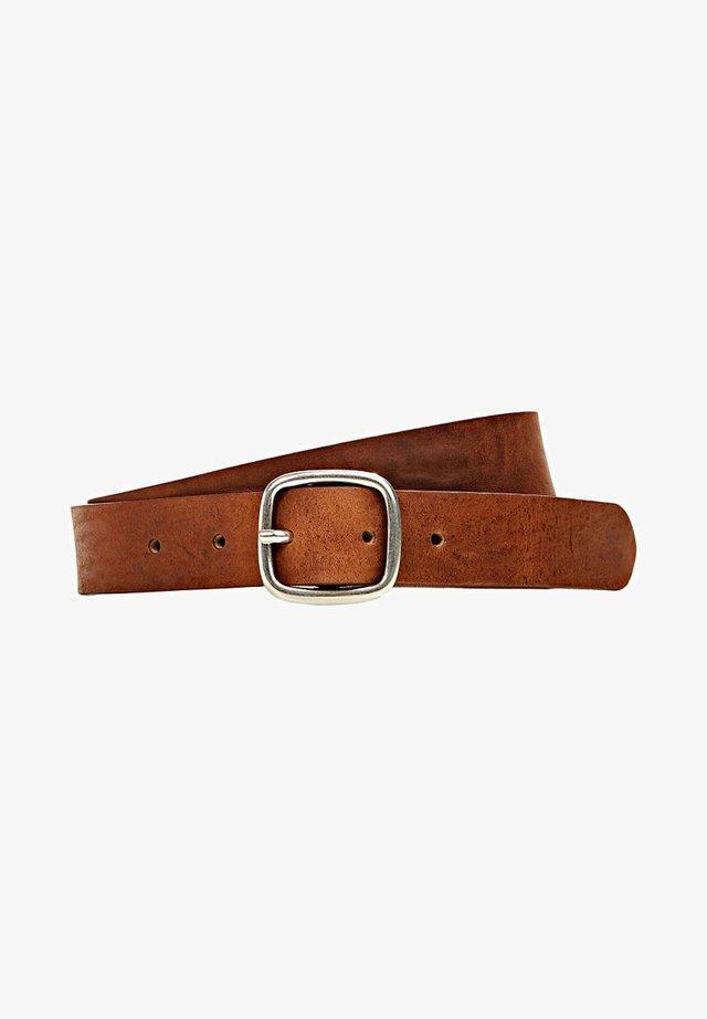 CLOSED BUCK - Belt - rust brown