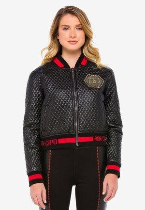 WJ166 - Faux leather jacket - black