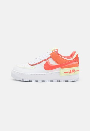 AIR FORCE 1 SHADOW - Sneakers laag - white/magic ember/crimson bliss/lime ice/light soft pink/black