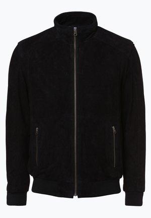 OSCAR - Leather jacket - marine