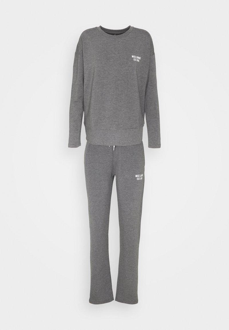 ONLY - ONLCAMILLA LOUNGEWEAR SET - Pyjamas - dark grey melange
