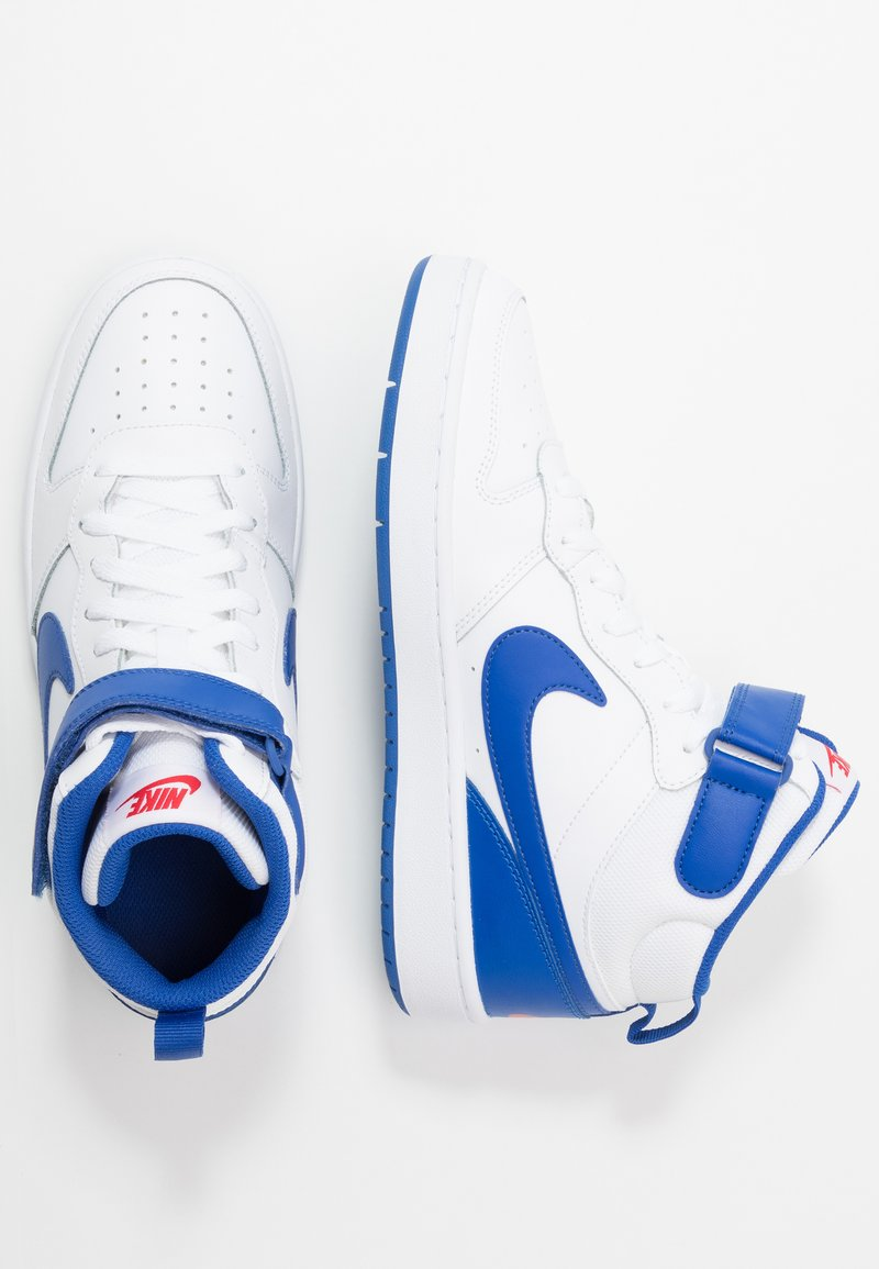 Nike Sportswear - COURT BOROUGH MID UNISEX - High-top trainers - white/game royal/university red