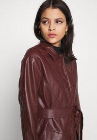 Topshop - BELTED SHAKETT - Short coat - burgundy - 3