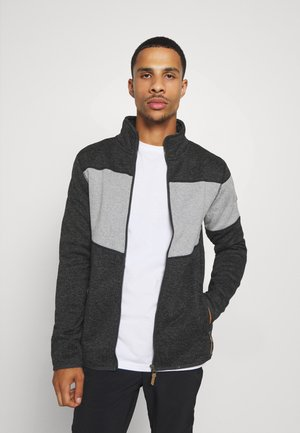 ALBERTON - Fleece jacket - black melange
