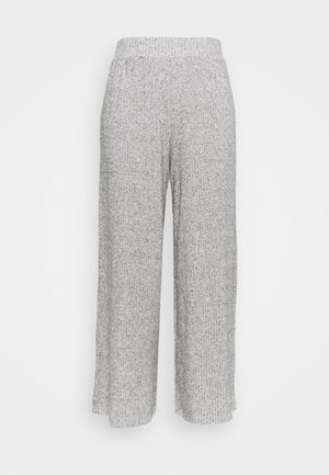 SUPERSOFT WIDELEG TROUSERS - Trousers - light grey