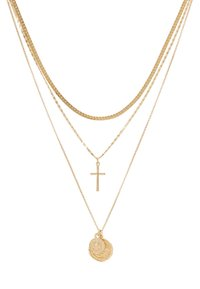 Topshop - FRCOIN CROSS  - Necklace - gold-coloured - 3