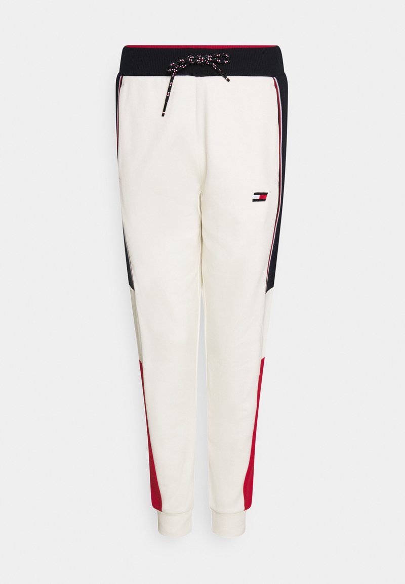 Tommy Hilfiger - COLORBLOCKED CUFFED PANT - Tracksuit bottoms - ivory