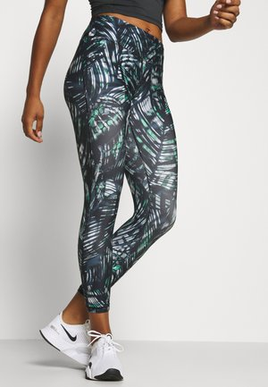 CONTOUR WORKOUT LEGGINGS - Leggings - beetle blue