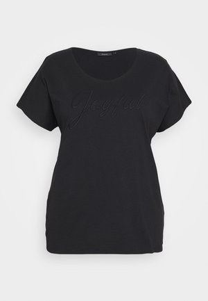 MBIANCA - Print T-shirt - black