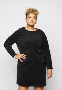 Noisy May Curve - NMMICK SHORT DRESS CURVE - Day dress - black - 3