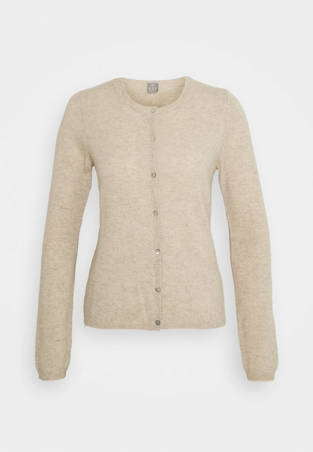 CARDIGAN - Strickjacke - natural