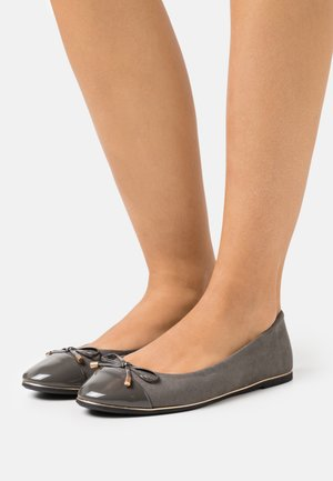WIDE FIT PINE RAND TOE CAP - Ballerina - dark grey