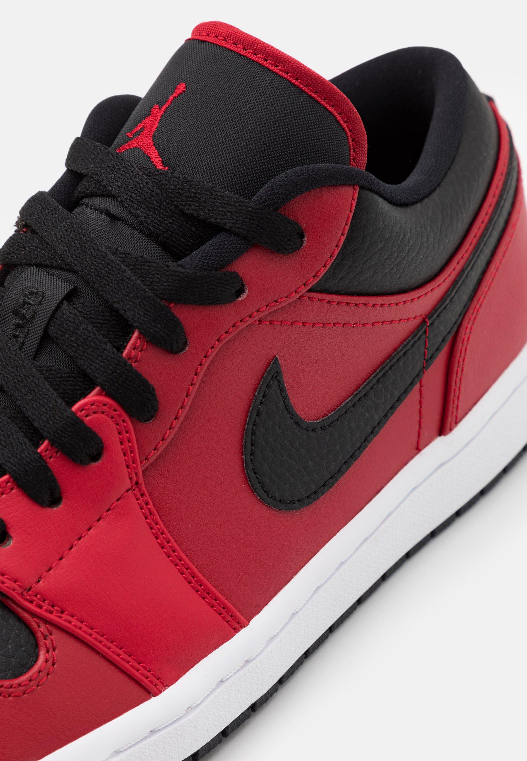 Jordan AIR 1 - Baskets basses - rouge/noir/rouge foncé - ZALANDO.FR