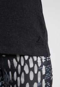 Reebok - TRAINING ESSENTIALS RIBBED TANKTOP - Sports shirt - black - 3