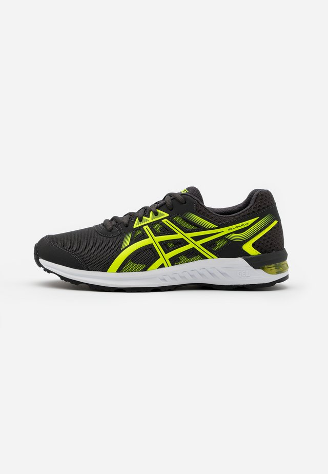 GEL-SILEO 2 - Laufschuh Neutral - graphite grey/safety yellow