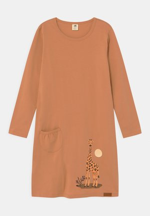 GIRAFFE - Jersey dress - camel