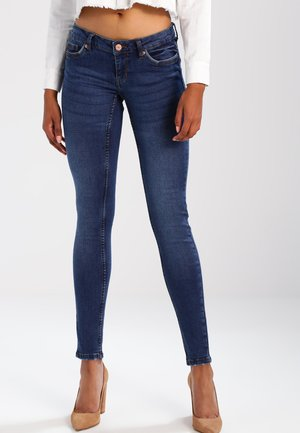 NMEVE POCKET PIPING - Jeansy Skinny Fit - dark blue denim