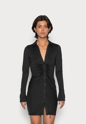 COLLAR DRESS - Jerseyklänning - black