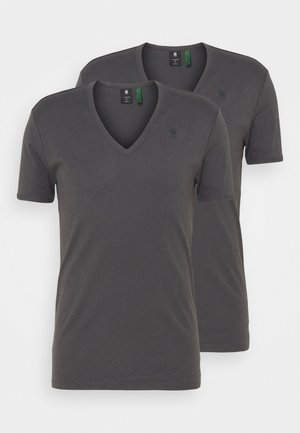BASE V T 2 PACK - T-shirt basic - lt shadow