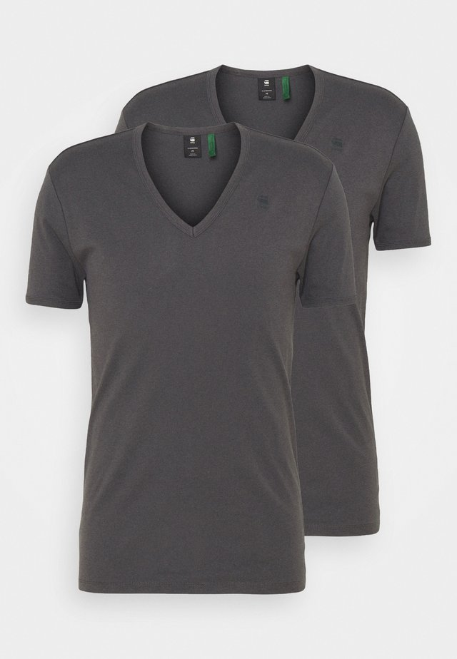 BASE V T 2 PACK - T-shirts - lt shadow