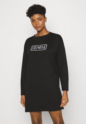 GRAPHIC LONG SLEEVE DRESS - Vestito di maglina - black