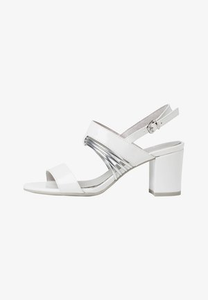 Sandals - white pat.comb