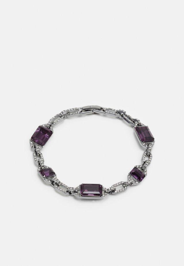Náramek - silver-coloured/purple