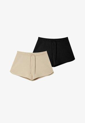 DOPPELPACK PLÜSCH - Shorts - grey