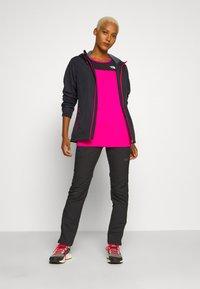 CMP - WOMAN RAIN JACKET FIX HOOD - Outdoor jacket - antracite/gloss - 1