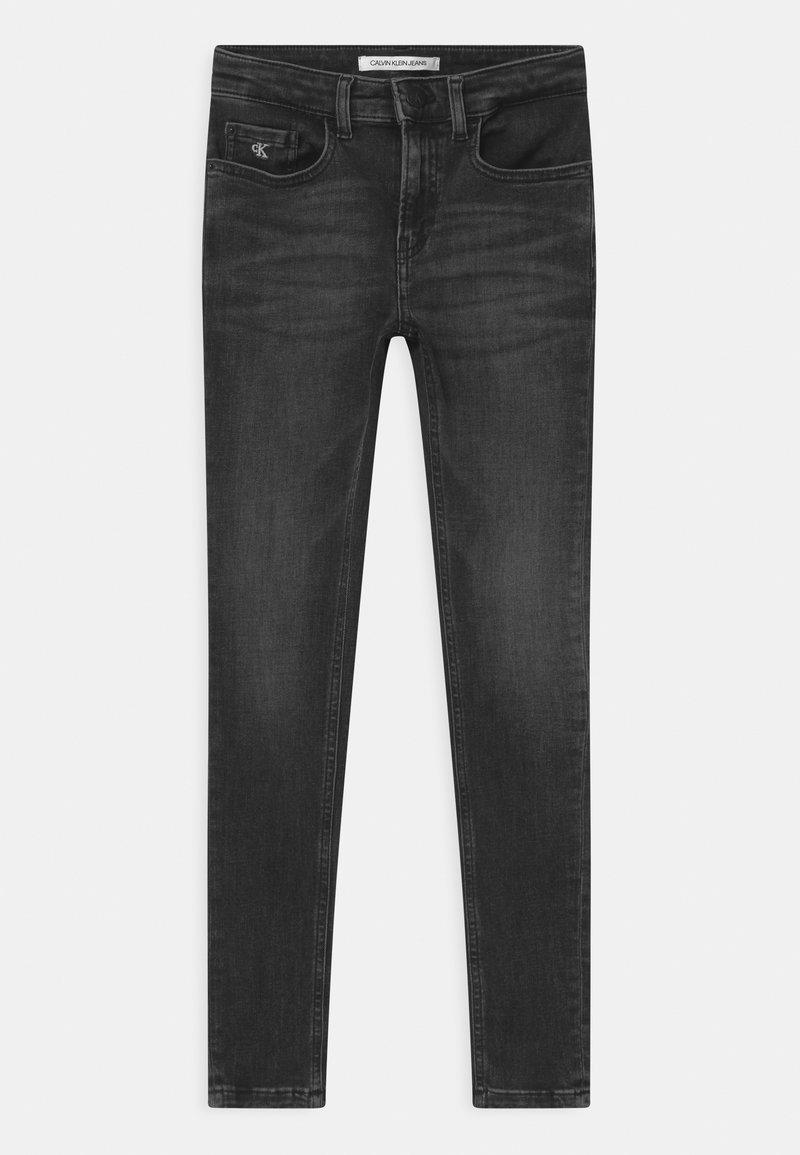 Calvin Klein Jeans - SUPER SKINNY MONOGRAM - Jeans Skinny Fit - black