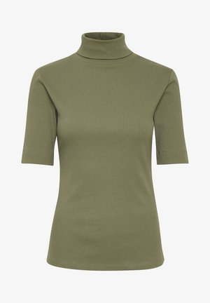 DHZOE - Print T-shirt - dusty olive