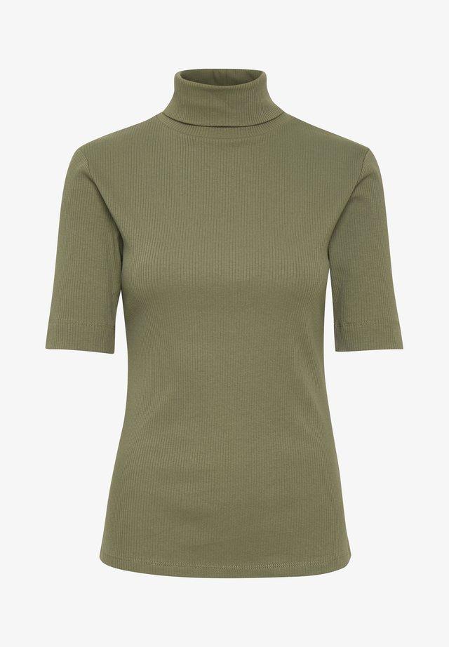 DHZOE - T-shirt z nadrukiem - dusty olive