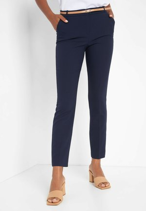 STRUKTUR - Trousers - nachtblau