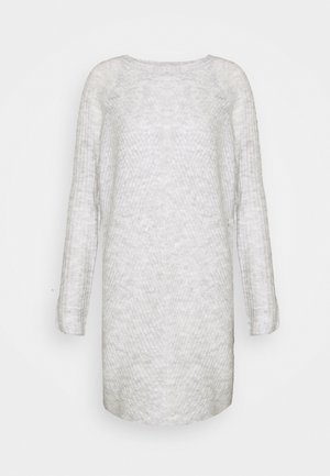 ONLCAROL DRESS TALL - Vestido de punto - light grey melange