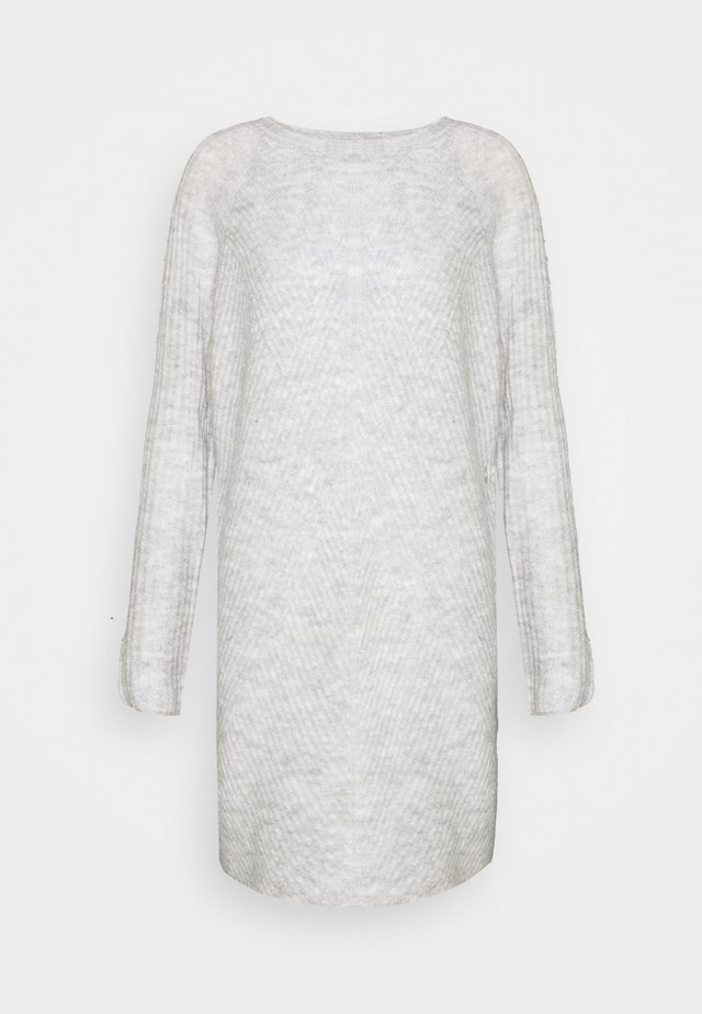 ONLCAROL DRESS TALL - Robe pull - light grey melange