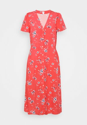 DRESS - Day dress - coral
