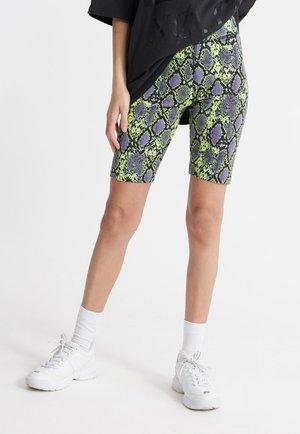 DESERT BIKE - Shorts - neon snake print
