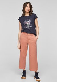 s.Oliver - Print T-shirt - navy - 1